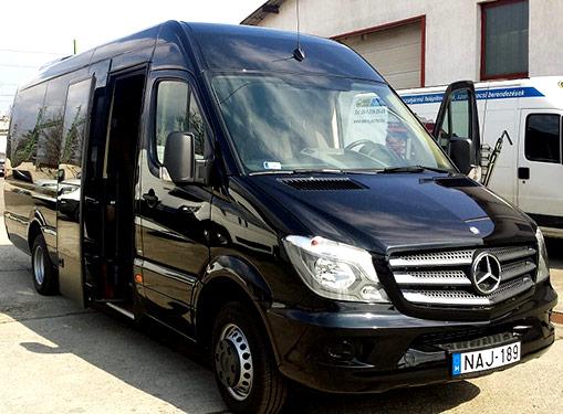 Автобус Mercedes Benz на 19 пассажиров, Отдых в Венгрии, заказать автобус для группы, русскоговорящий водитель, Дешевый трансфер, русскоговорящий, трансфер из аэропорта, из Будапешта в Шиофок, из аэропорта на Балатон, выгодная цена, заказать трансфер