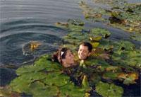 Венгрия. Купание в термальном озере Хевиз.