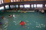 Озеро Хевиз (Heviz) Зимнее купание в термальном озере.